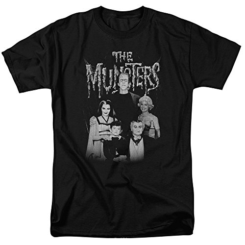 The Munsters Monster Family Sitcom TV Show Family Portrait Adult T-Shirt Tee Black