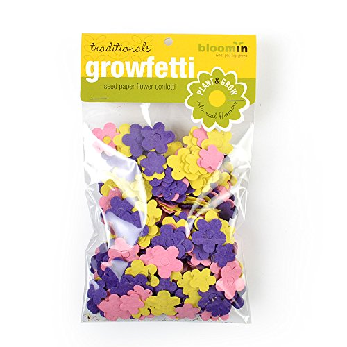 - Bloomin Seed Paper Shape Packs - Growfetti - Flower Shapes {Traditionals)