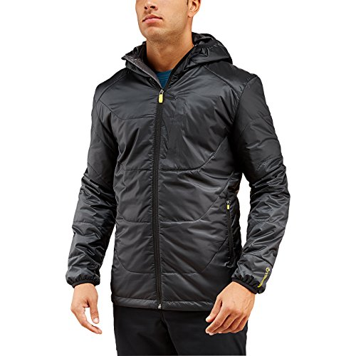 Merrell Men's Hexcentric Hooded Puffer Jacket, Medium, Black