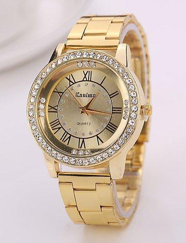 PEISHI J mujeres ginebra relojes 2015 nuevos relojes de cuarzo de acero de aleación Womanwatch analógico Relojes de marca de primera calidad , champagne-for ...