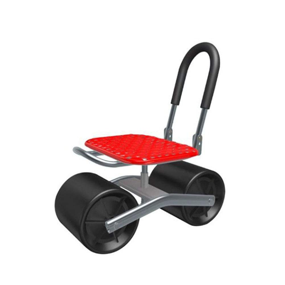Oncook Garden Cart Rolling Scooter with Seat and Tool Tray for Weeding, Gardening, and Outdoor Lawn Care for Adults and Kids