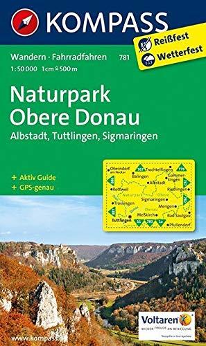 Naturpark Obere Donau - Albstadt - Tuttlingen - Sigmaringen: Wanderkarte mit Aktiv Guide und Radrouten. GPS-genau. 1:50000 (KOMPASS-Wanderkarten, Band 781)