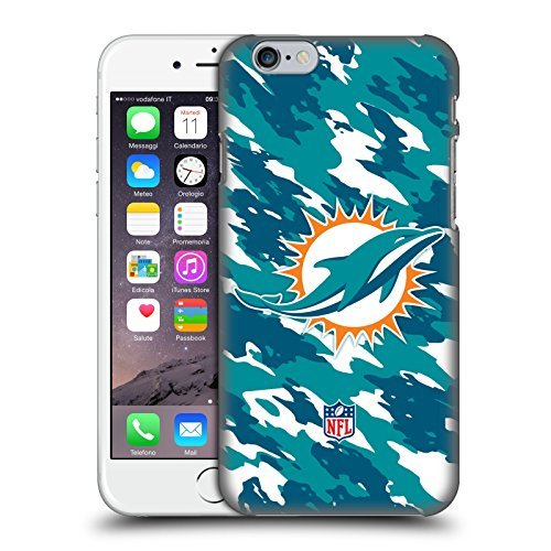 Miami Dolphins Football Case (Official NFL Camou Miami Dolphins Logo Hard Back Case for Apple iPhone 6 / 6s)