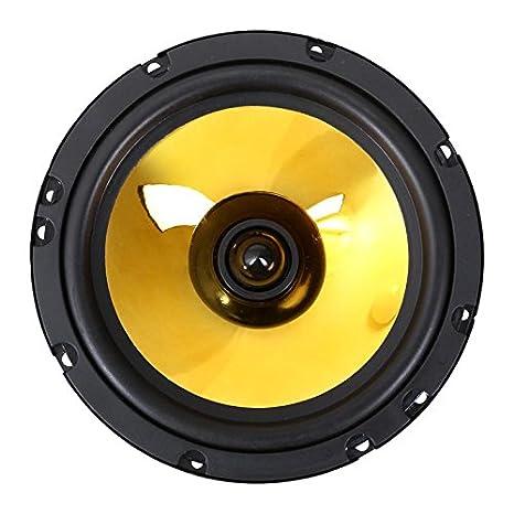auna Goldblaster 5 Altavoces HiFi para Coche /• Par con coaxial de 3 v/ías /• Potencia 100-20000 Hz /• Negro Dorado 89 dB /• Frecuencia 2X 500 W /• Tweeter de neodimio /• Bobina ASV /• Presi/ón Sonora
