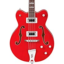 Gretsch G5442BDC Electromatic Hollow Body Short Scale Bass Guitar - Transparent Red