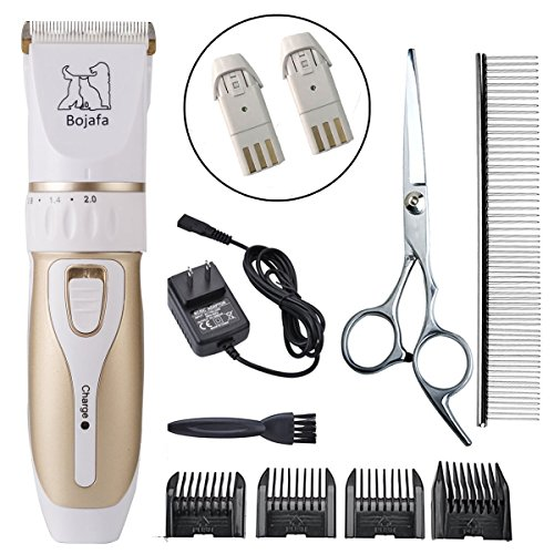 Dog Grooming Clippers Professional Low Noise and Cordless Rechargeable Pet Grooming Clippers Horse Cat Dog Hair Clippers Trimmers