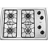 Whirlpool W3CG3014XS 30' Stainless Steel Gas Sealed Burner Cooktop
