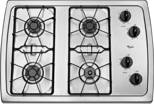 Whirlpool W3CG3014XS Stainless Sealed Cooktop
