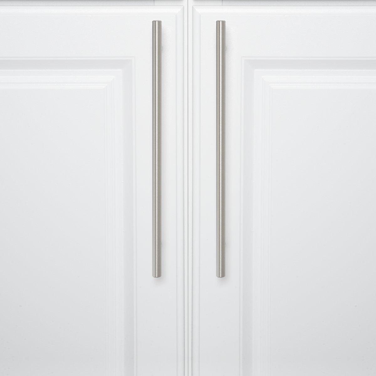10er-Pack 9,5 mm Durchmesser Poliertes Chrom L/änge: 15,57 cm Basics M/öbelgriff Lochmitte zu Lochmitte: 9,52 cm Europ/äischer Steggriff