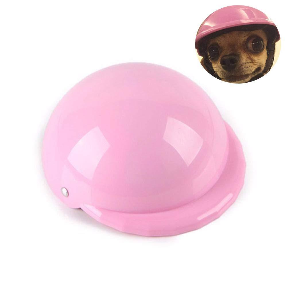 Pink UEETEK Haustier Hund Helm Hund Motorr/äder Fahrrad Sonne Regen Schutz Hut Gr/ö/ße L