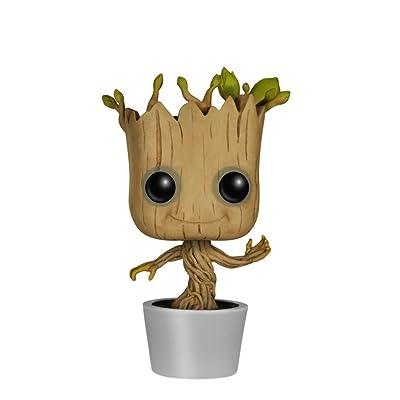 Bayram Baby Groot Bobblehead - La figurine des Guardians Of The Galaxy de Marvel   Edition Collector Gadget Pendentif Dancing Groot Bobble-Head   3D Disney Cadeaux Rigolos pour Enfants