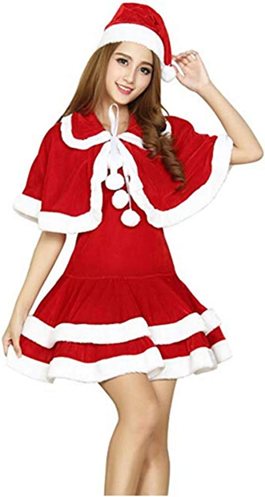 lancoszp Disfraz de Elfo Navideno para Mujer Disfraz de Santa ...