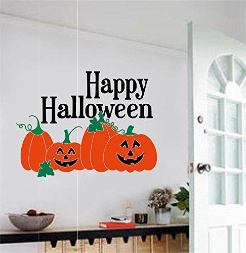 Enchantingly Elegant kw103a Happy Pumpkins Vinyl Decal Wall Stickers Words Lettering Halloween Decoration 30x22, 30