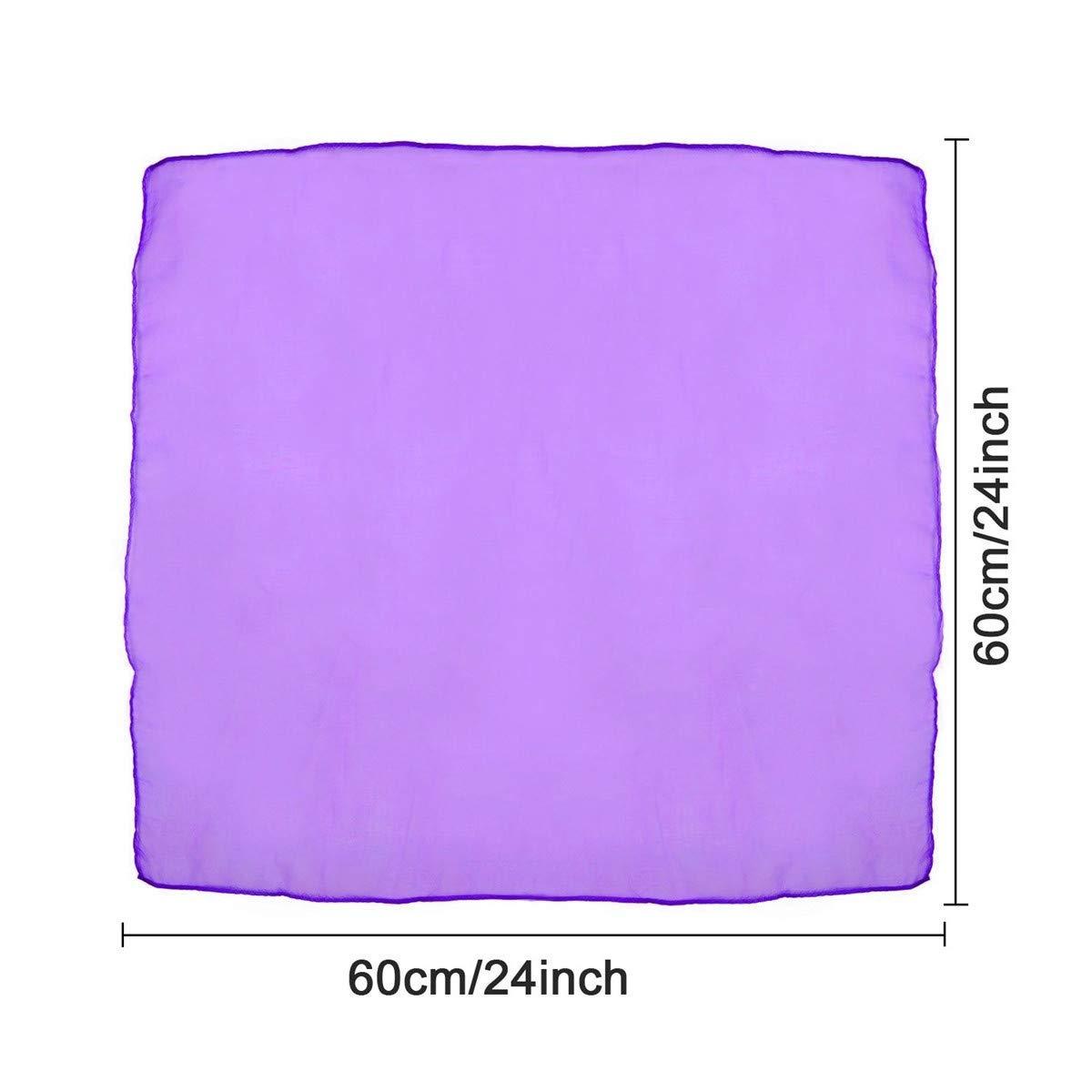LANGING 24 St/ück 60 x 60 cm Jongliert/ücher Tanz Jonglier Schals Gymnastikt/ücher
