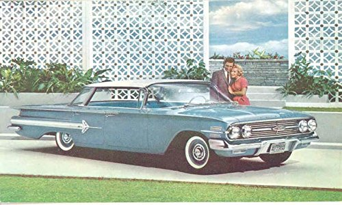 1960 Chevrolet Impala 4-Door Sport Sedan ORIGINAL Factory Postcard