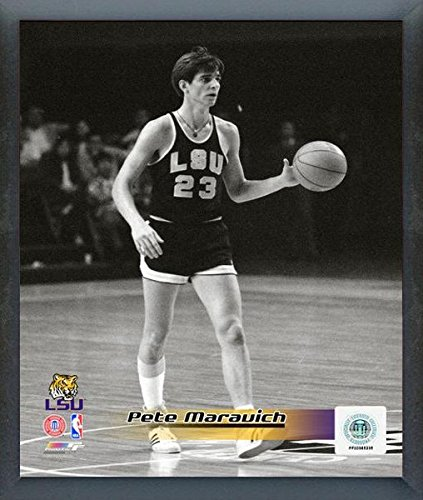 (NCAA Pete Maravich LSU Tigers Overlay Action Photo (Size: 17