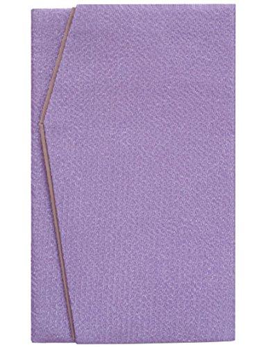日本製 高級 二重 ちりめん 金封 ふくさ 浅紫 ( 慶弔両用 ) E-814