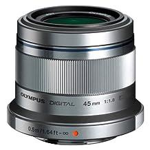 Olympus M. Zuiko Digital ED 45mm f1.8 (Silver) Lens for Olympus and Panasonic Micro 4/3 Cameras  - International Version (No Warranty)
