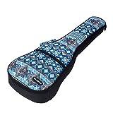 CLOUDMUSIC National Hawaiian Ukulele Bag Ukulele Case (Soprano, Bohemian Blue)