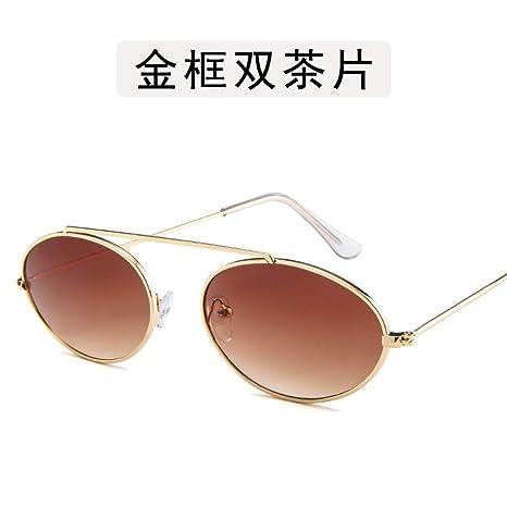 Yangjing-hl Gafas de Personalidad Gafas de Sol ovaladas de ...
