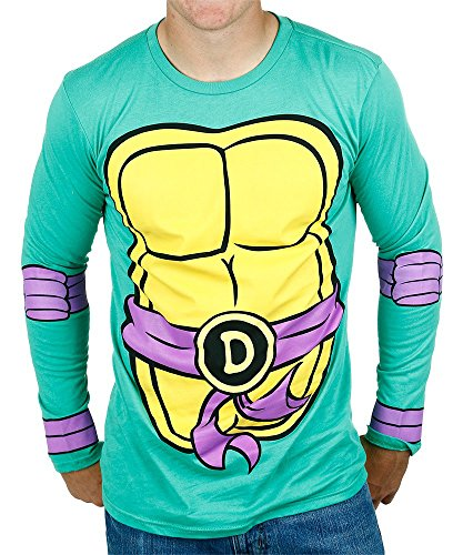 Teenage Mutant Ninja Turtles Donatello Costume Longsleeve Adult T-Shirt (Large) (Shredder Costume For Adults)