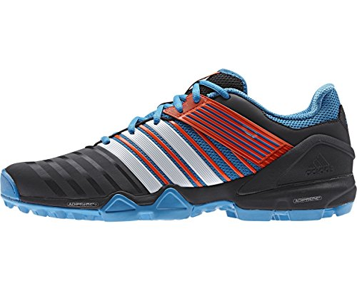 adidas adipower II Unisex Hockey Shoe, Black/Blue, UK7