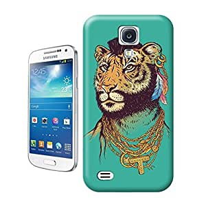 Unique Phone Case Mr. Tiger Art Print Hard Cover for samsung galaxy s4 cases-buythecase