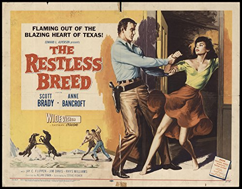 the-restless-breed-1957-original-movie-poster-western-dimensions-22-x-28