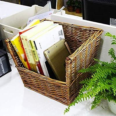Libreria Salon Creativo Retro Rattan Desktop pequeña cesta ...