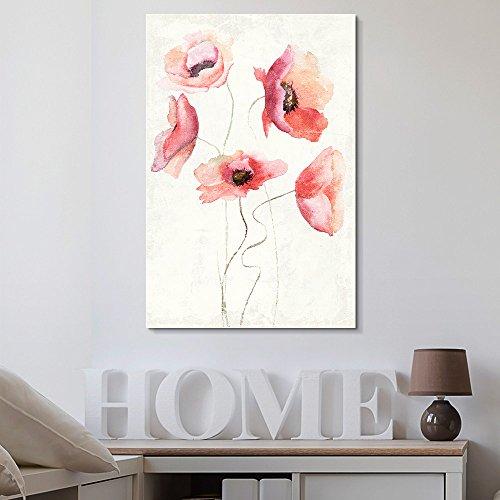 Watercolor Style Poppy Flowers
