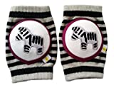 Crawlings Unisex Zebra Knee Pads One Size Black (One Size, Black)