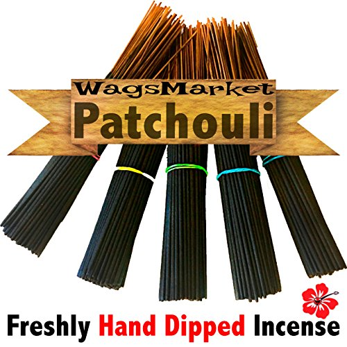 WagsMarket Premium Hand Dipped Incense Sticks, You choose the Scent. 100-12in Sticks. (Patchouli Stick)
