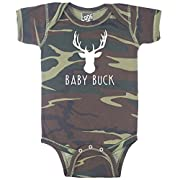 Decal Serpent Baby Buck Deer Hunting Funny Baby Boy Bodysuit Infant - Camouflage - Newborn