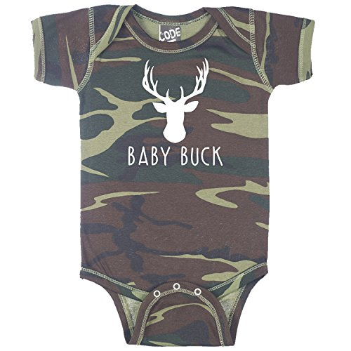 Decal Serpent Baby Buck Deer Hunting Funny Baby Boy Bodysuit Infant - Camouflage - 6 Month