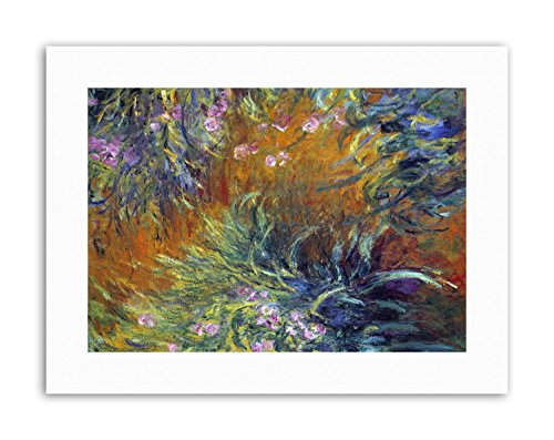 Wee Blue Coo Claude Monet Irises Picture Old Master Canvas Art Prints ()