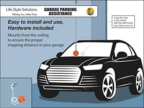 Garage Parking Assist, PiBridge Parking Ball for Garage Parking Aid Parking Assistance Solution Garage Stop Ball Parking Guide Ball, Perfect Garage Car Stopper (Orange Ball 3 Car Garage Pack) by PiBridge (Image #2)