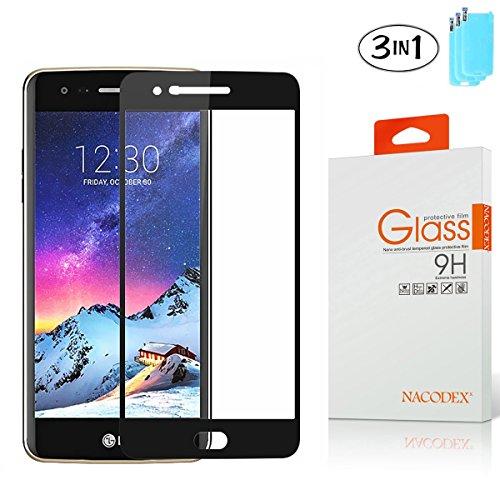 [3 Pack] Nacodex LG K20 V / K20 Plus/ K20V (Verizon) / V5 / LG Harmony / K10 2017 [ Full Coverage ] Tempered Glass Screen Protector, HD Anti-Scratch (Best Cell Phone Coverage In Usa 2017)