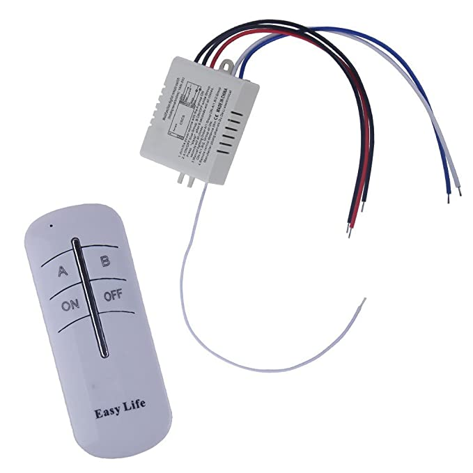 WINGONEER Wall Switch And Remote Control 2-Way ON/OFF Light Digital Wireless Switch 200V-245V Digital Light Radio - - Amazon.com