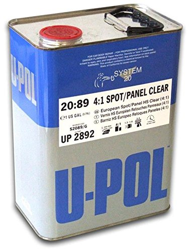 U-Pol Products 2892 Clear System 2089 4:1 Ratio Spot/Panel Urethane Coat - 1 Gallon