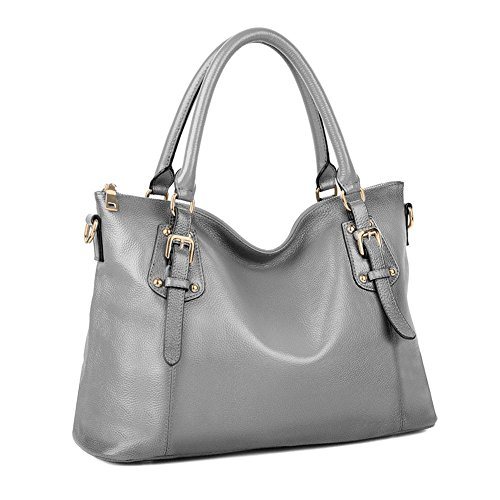 Women's Tote Grey Kattee Bag Shoulder Vintage Leather Genuine dwFgCBq