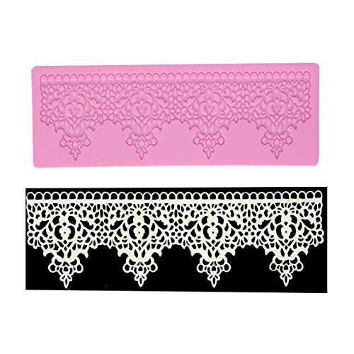 Lace Sugarcraft Silicone Decoration Molds Fondant Embossing Cake DIY Molds