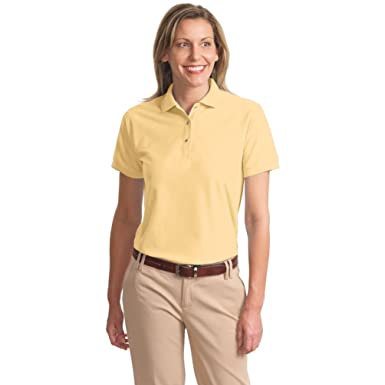 f8420b56 Port Authority Ladies Silk Touch Polo at Amazon Women's Clothing store: