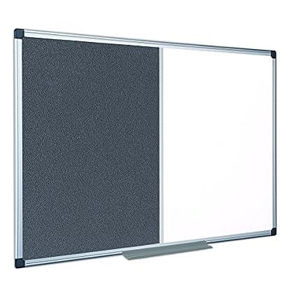 Image of Combination Boards Bi-Office Combination Board Maya, Grey Felt/Melamine, Aluminium Frame, 180 x 120 cm