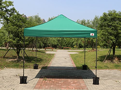 Abccanopy Forest Green 10x10 Ez Pop up Canopy Patio Party Wedding Tent Gazebo with Roller Bag
