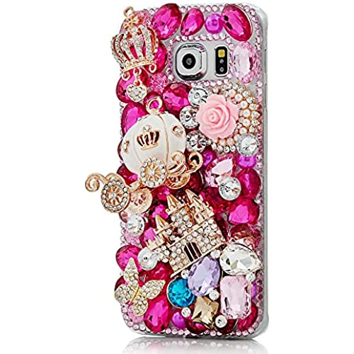 Samsung Galaxy S7 Active Bling Case - Fairy Art Luxury 3D Sparkle Series Castle Pumpkin Car Crown Flowers Crystal Sales