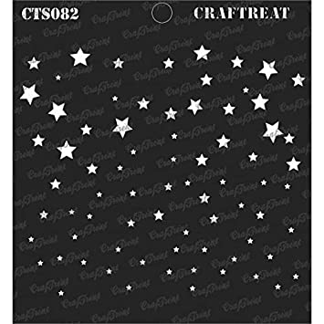 Fabric Wall 2 pcs CrafTreat Stencil Tile Wood 6X6 Foliage1 /& Bamboo Forest DIY Albums Scrapbook and Printing on Paper | Reusable Painting Template for Home Decor Crafting Floor