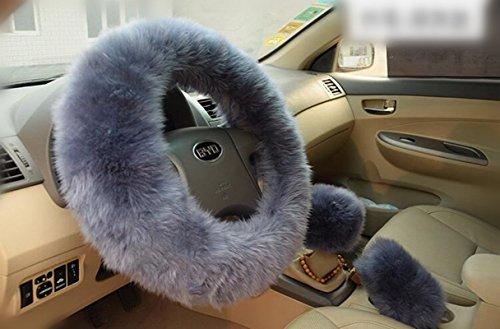 Sino Banyan Steering Wheel Cover,3 Pcs,Australian Merino Wool,14.96