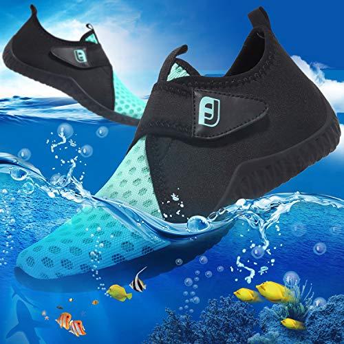 Jiasuqi Per Aqua Surf Bright Esercizio Spiaggia Nuotare Calzini Con Unisex Yoga Scarpe A Piedi Pelle Blue Antiscivolo Nudi La D'acqua UwrqPZUn