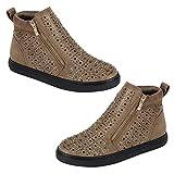 TravelNut Best Taupe Hightop Flat Low Heel Sneakers