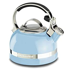 KitchenAid KTEN20SBEU 2.0-Quart Kettle with Full Stainless Steel Handle and Trim Band - Cameo Blue